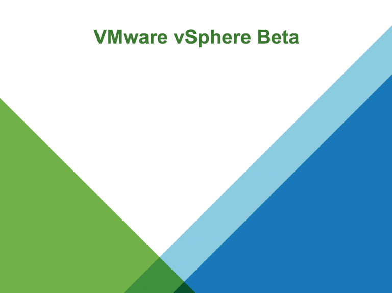 vSphere-Beta