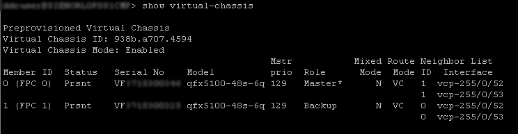 show virtual-chassis